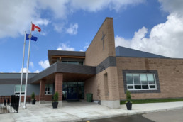 Entrance to Catholic k-9 school in jensen lakes called Sister Alphonse Academy