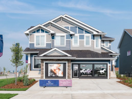 Showhome exterior from road, of Pacesetter showhome