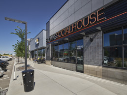 Exterior restaurant and coffee shop. Enjoy local food in Jensen Lakes St. Albert commercial spaces.